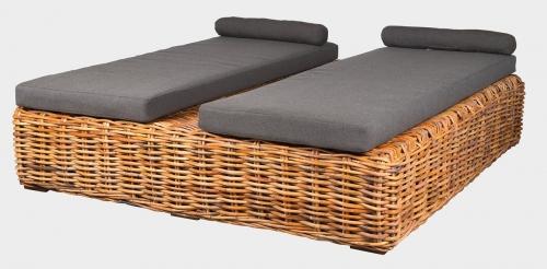 BOREA ratanová posteľ
