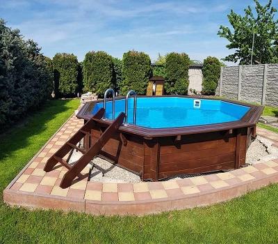 Drevený bazén Tropical Sunshine realizácia